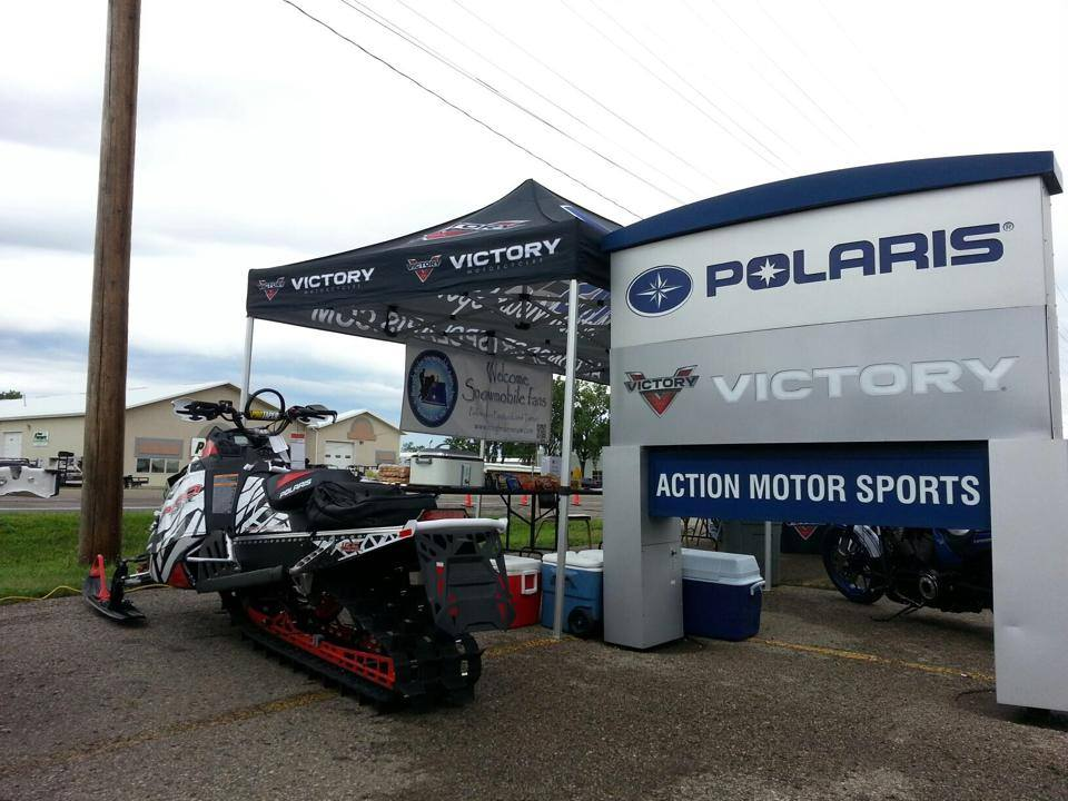 Thanks to everyone who came out to check out the new Polaris sleds and test ride the new Victory motorcycles!!